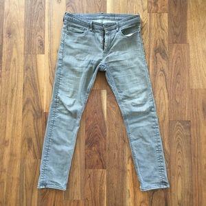 Levi Strauss Cotton Jeans. Gray Slim Fit. W34 L32.
